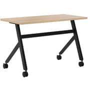 "basyx by HON Multi-Purpose Table, Fixed Base, 48""W x 24""D, Wheat Laminate, Black Finish"
