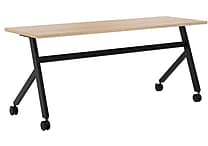 basyx by HON Multi-Purpose Table, Fixed Base, 72'W x 24'D, Wheat Laminate, Black Finish