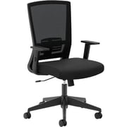 basyx by HON® BSXVL541LH10 VL541 Fabric Mesh Back High-Back Office Chair with Adjustable Arms, Black