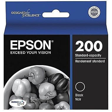 Epson 200 Black Ink Cartridges, 2 Pack (T200120-D2)