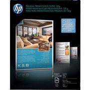 "HP Premium Inkjet Matte Presentation Paper, Letter Size, 98 US Brightness, 32 lbs., 8 1/2"" x 11"", White, 100 Sheets"