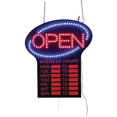 led open sign business hours staples. Black Bedroom Furniture Sets. Home Design Ideas