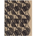 Paperchase Japanese Stitch Kraft Journal, Black Geographic, 5in.x6.375in.