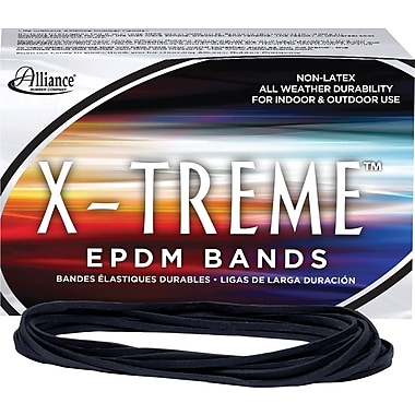 Alliance® X-Treme File Bands, #117B (7in. x 1/8in.) Black, 1 lb. box.