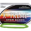 Alliance® X-Treme File #117B (7in. x 1/8in.) Rubber Band, Lime Green, 1 Lb. Box