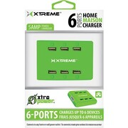 Xtreme 5AMP 6 Port Power Station, Green