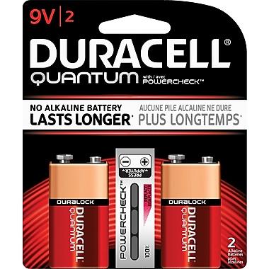 Duracell® 9V Quantum Alkaline Batteries, 2/Pack