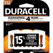 Duracell® - Piles 1,4 V Zinc Air EasyTab pour prothèses auditives, taille 312, paq./8