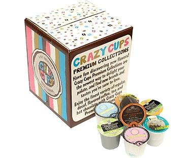 Crazy Cups Flavored Coffee Capsules Sampler pack, 30 count