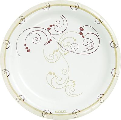 """""SOLO Cup Company Symphony Paper Dinnerware, Mediumweight Plate, 8 1/2"""""""", Tan, 500/Carton500/Carton"""""" SCCMP9J8001CT"