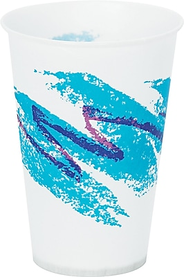 SOLO Cup Company Jazz Waxed Paper Cold Cups, 7 oz, Tide, Wax-Coated Paper, 2000/Carton (SCC R7NJ) SCCR7NJ