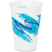 SOLO® Cup Company Jazz® Waxed Paper Cold Cups, 7 oz, Tide, Wax-Coated Paper, 2000/Carton (SCC R7NJ)