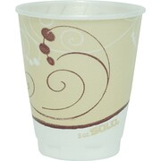 SOLO® Cup Company Trophy® Plus Dual Temperature Insulated Cups in Symphony® Design, 8 oz, Tan, Foam, 100/Pack (X8-J8002)