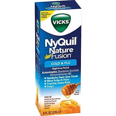 Nyquil Nature Fusion Cold & Flu Nighttime Relief 8oz