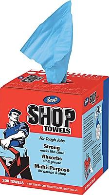 Scott Shop Towels Blue Double Recrepe 10 x 13 200 Bx 8 Boxes Ct