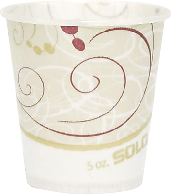 Solo Symphony Design Waxed Paper Cold Cup, 5 oz., 3000/Carton 949820