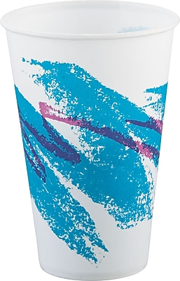 SOLO Cup Company Jazz Waxed Paper Cold Cups, 12 oz, Tide, Wax-Coated Paper, 2000/Carton (SCC R12NJ) SCCR12NJ