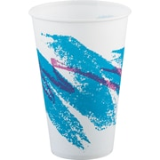 SOLO® Cup Company Jazz® Waxed Paper Cold Cups, 12 oz, Tide, Wax-Coated Paper, 2000/Carton (SCC R12NJ)