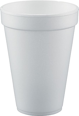 Dart Conex Hot/Cold Foam Drinking Cups, 10 oz, White, Foam, 1000/Carton (10FJ8) DCC10FJ8