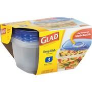 Gladware Deep Dish Food Storage Containers, 64 Oz, 3/Pk, 6 Pk/Ctn