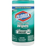 Disinfecting Wipes, Fresh Scent, 7 x 8, White, 75/Canister, 6 Canisters/Ct