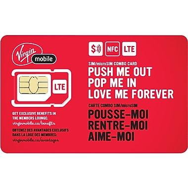 Virgin Mobile NFC SIM/Micro SIM Combo Card