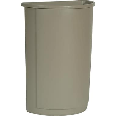 Rubbermaid Untouchable® Half-Round Wastebasket, Grey