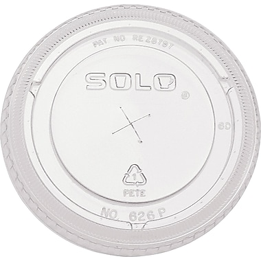 SOLO® Straw Slot Lids, 16 oz., 1,000/Case