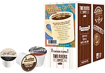 Two Rivers Coffee Flavored Coffee Sampler Pack, 40 Count