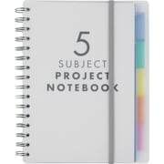 "Paperchase 5 Subject Clear Poly Notebook, 6""x8.25"""