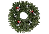 Fresh-Cut Fraser Fir Decorated Wreath 22'', Various Delivery Dates