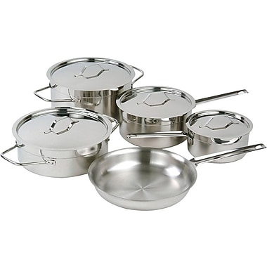 Paderno Chef's Choice Cookware Set, 9-Piece, Stainless Steel