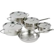 Padernno – Batterie de cuisine Chef's Choice, 9 pièces, acier inoxydable