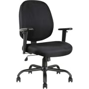 Big and Tall Fabric Chair Black
