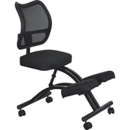 Kneeling Chair Curved Blk Mesh