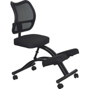Kneeling Chair Curved Blk Mesh