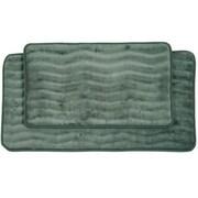 Lavish Home 2 Piece Memory Foam Bath Mat Set, Green