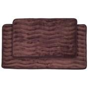 Lavish Home 2 Piece Memory Foam Bath Mat Set, Assorted Colors