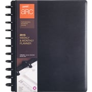 M by Staples ARC System 2015 Weekly Planner Black Leather 8X11
