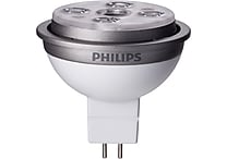 Philips 10 Watt MR16 LED Flood Light Bulb, Bright White, Dimmable