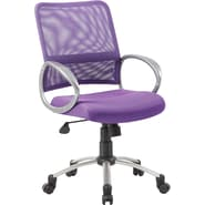 Boss Mesh Back W/ Pewter Finish Purple Task Chair