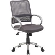 Boss Mesh Back W/ Pewter Finish Charcoal Task Chair