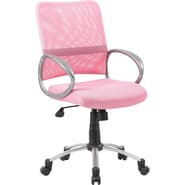 Boss Mesh Back W/ Pewter Finish Pink Task Chair