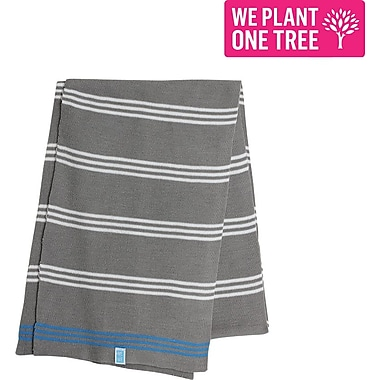 Me to We White and Grey Striped Scarf, 66''