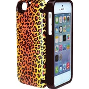 Eyn case for iPhone 5/5s with Hinged Storage Back, Leopard