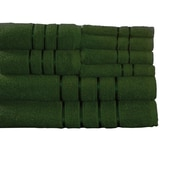 Lavish Home 8 Piece 100% Cotton Bath Towel Set - Green