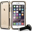 Macally Durable Protective Frame Case for iPhone 6 with Car Charger, Champagne