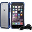 Macally Durable Protective Frame Case for iPhone 6 with Car Charger, Blue