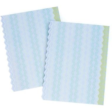 Gartner Studios Customizable Design Paper, Zig Zag Blue + Green, 50/Pack