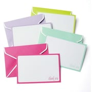 Gartner Studios All Occasion Thank You Cards + Matching Envelopes, Pastel Coloured